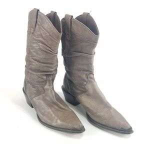 CRUSH DURANGO SLOUCH BROWN COWBOY WESTERN BOOTS